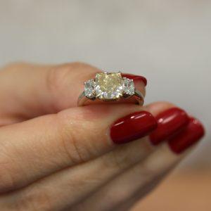 Hand-Holding-Diamond-Ring