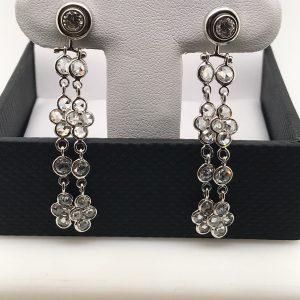 Vintage rose cut diamond dangle earrings - Paid $500