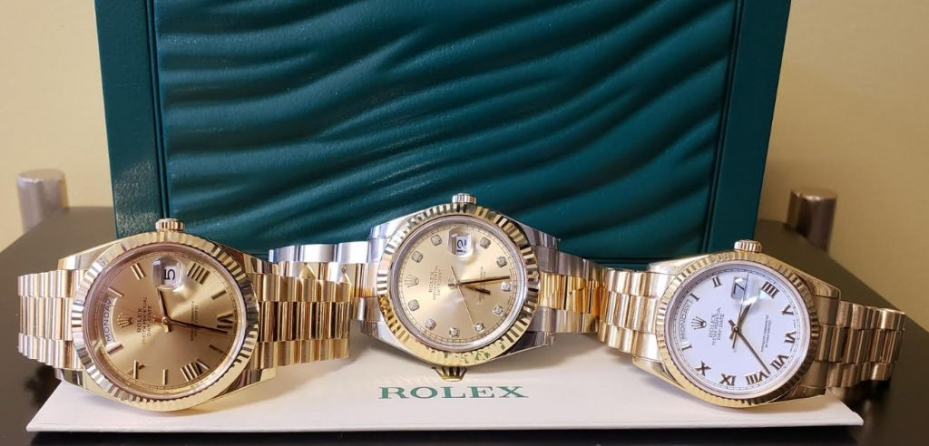 Rolex DayDates were some of the first watches to utilize subdials.