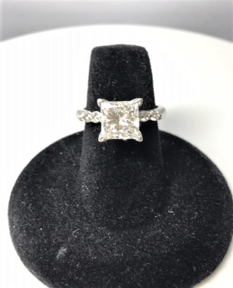 Diamond Banc paid $5600 for this 2.56ct Princess Cut Diamond Ring