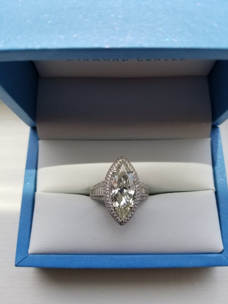 4ct Marquise Shaped Diamond used for a collateral based loan