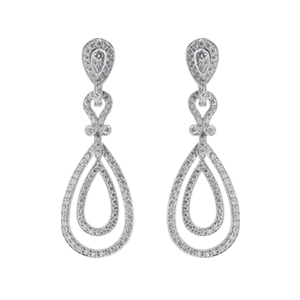 Teardrop-Diamond-Earrings