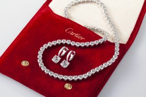 Cartier Diamond Necklace and Earrings